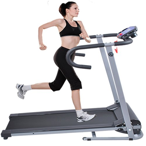 Cheapest Prices! Goplus 500w Folding Portable Electric Treadmill (Black)