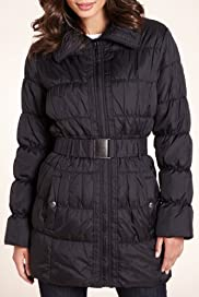 Stitched Midi Padded Jacket with Belt [T49-2030-S]