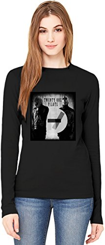 Grunge Twenty One Pilots T-Shirt da Donna a Maniche Lunghe Long-Sleeve T-shirt For Women| 100% Premium Cotton Ultimate Comfort Small