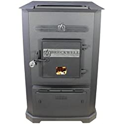 BRECKWELL SP8500 or P8500 MULTI-FUEL FURNACE 105,000 BTU/Hr, up to 4000 Sq Ft, 320 lb Hopper Bin