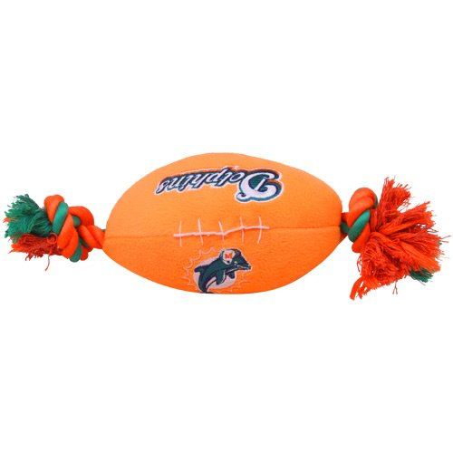 Miami Dolphins Pet Football Rope Toy, 6-Inches long