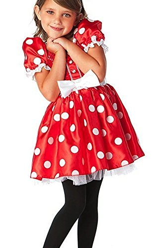 Disney Store Red Minnie Mouse Halloween Costume Dress Size Large 10