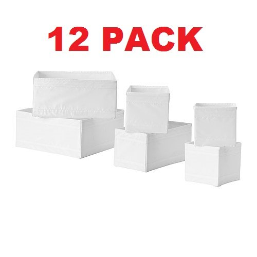 Ikea Skubb Drawer Storage Organizer's White (12 Pack)