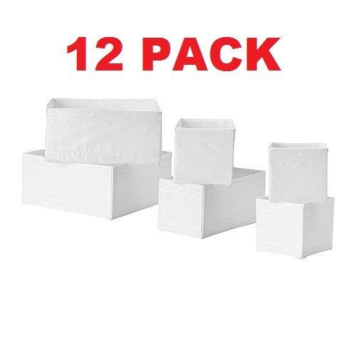 Ikea Skubb Drawer Storage Organizer's White (12 Pack)