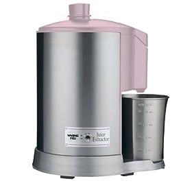 Waring Pro JEX328PK 400-Watt Juice Extractor, Pink