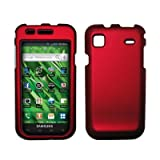 Red Rubberized Hard Cover Crystal Case for Samsung Vibrant/Galaxy S T959