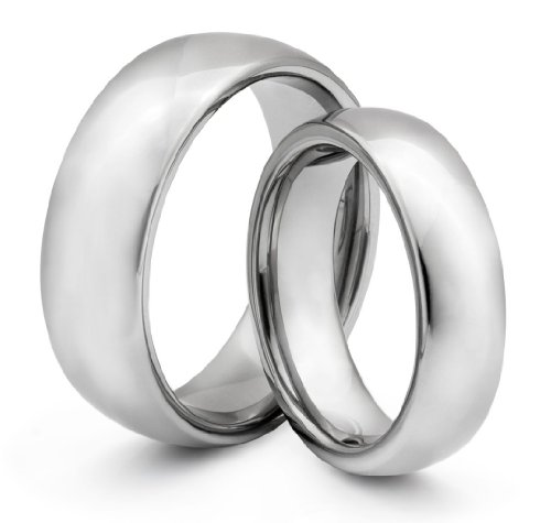 His  &  Her's 8MM/6MM Tungsten Carbide Classic Wedding Band Ring Set (Available Sizes H - Z+2) EMAIL US WITH YOUR SIZES