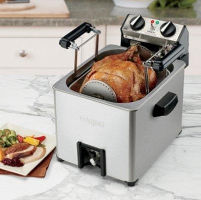 Waring TF200 Turkey Fryer w/ 2.5-gal Reservoir & Basket, Holds up to 18-lbs, Each