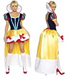 Ladies Deluxe Sexy Snow White Disney Princess Fancy Dress Costume Outfit (Women: 8-10)