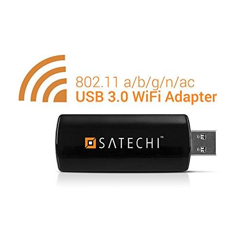 Satechi® ワイヤレス USB3.0 mini Wi-Fiアダプター 無線LAN子機 デュアルバンド ネットワーク IEEE 802.11 a/b/g/n/ac 866.7 Mbps Windows XP/Vista/7/8/8.1/10対応