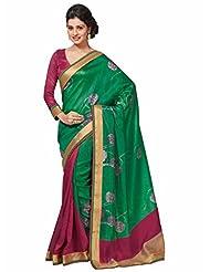 Vipul Bhagalpuri Silk Saree (Green)