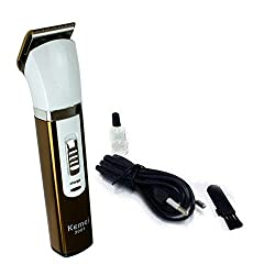 Kemei KM-3001A Professional Rechargable Hair Clipper for men (Colour May Vary)