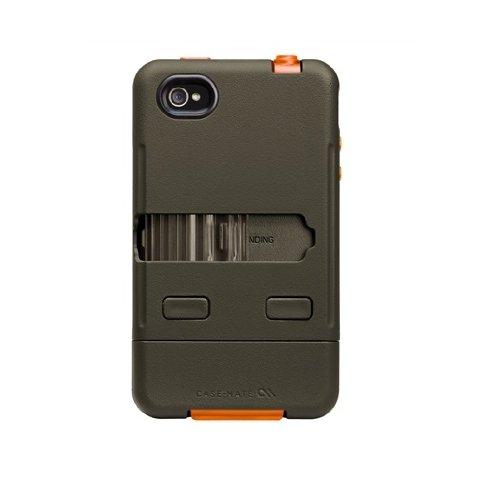 【軍用グレードの最強保護】Case-Mate iPhone 4S / 4 Tank Case, Military Green / Orange タンク ケース, ミリタリーグリーン/オレンジ CM016802
