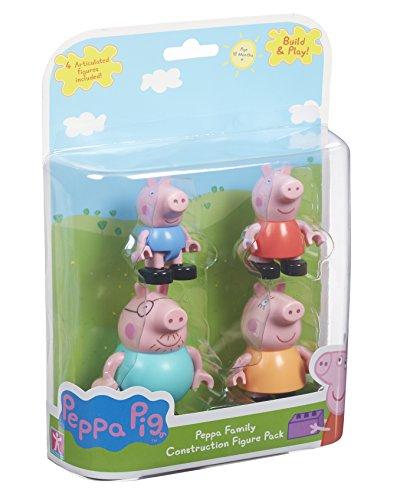 Peppa-Pig-Set-de-4-minifiguras-la-familia-de-los-cerdos-multicolor-6080