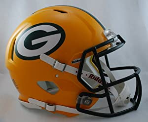 Buy GREEN BAY PACKERS NFL Riddell Revolution SPEED Football Helmet by www.realhelmets.com