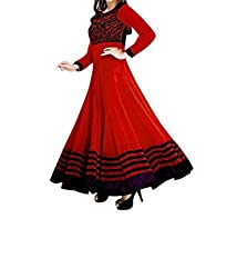 Poonam Fab-Unstitch Dress Material_Evelyn_Red