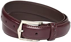 Stacy Adams Men's 30mm Pinseal Leather Belt With Pinhold Design, Cordovan, 42