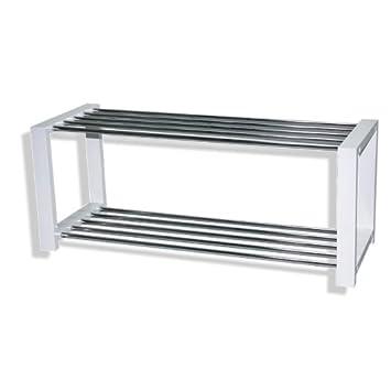 roller schuhregal 14427 chrom wei schuhschrank regal db604. Black Bedroom Furniture Sets. Home Design Ideas