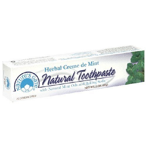 Nature'S Gate Natural Toothpaste, Herbal Creme De Mint, (3 Oz) (85 G)