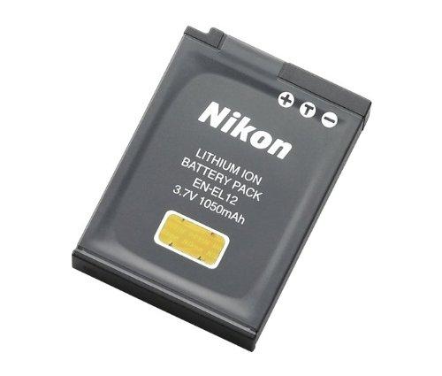Nikon EN-EL12 Rechargeable Li-Ion Battery for Coolpix S1000pj, S1100pj, S6000, S610, S620, S630, S640, S70, S710, S8000, and S8100 - Retail Packaging