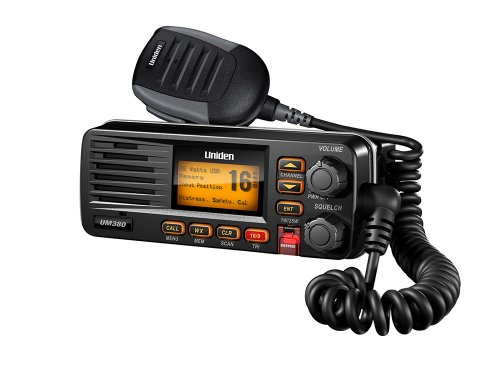 Uniden UM380BK Class D Full - Feature Fixed Mount VHF Marine Radio, Black