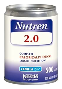 Nestle Nutren 2.0 Vanilla 250Ml Can Complete Calorically Dense Liquid Nutrition - Case of 24