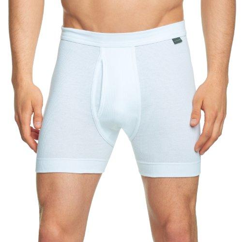 Schiesser Herren Lange Unterhose 205178-100, Gr. 6 (L), Weiß (100-weiss)