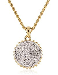 Estelle Gold And Silver Plated Pendant With Crystals (369)