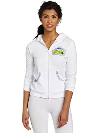 NBA Denver Nuggets Zip Hoodie,White by Majestic Threads