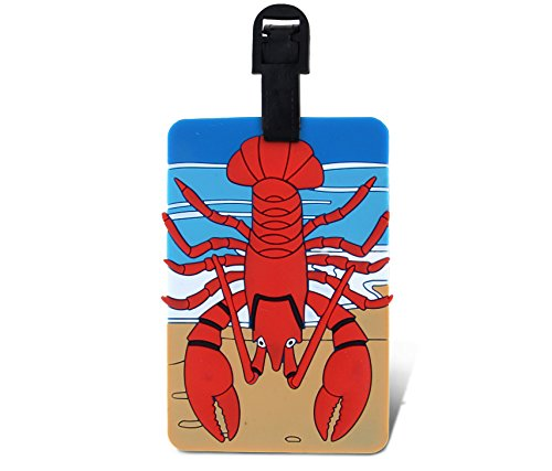 WeGlow International Fun Luggage Tag - Lobster