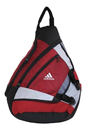Amazon.com: adidas Yates Sling 5132062 Backpack,Imperial Red,One Size