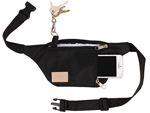 black-travel-fanny-pack-w-phone-pocket-and-key-ring