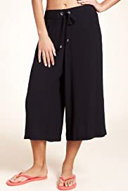 Plait Waist Cropped Beach Trousers [T52-1393-S]