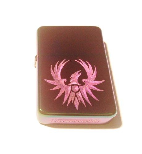Vector KGM Thunderbird Custom Lighter - Rising RED Phoenix Soaring Bird Tattoo Logo Prism Rainbow High Polish Chrome Rare!