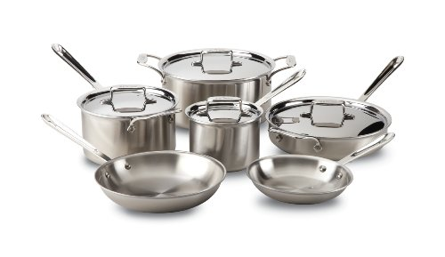 All-Clad Brushed Stainless D5 10-Piece Cookware Set