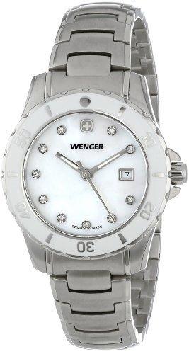 Wenger-Womens-70388-Sport-White-Dial-Steel-Bracelet-Watch