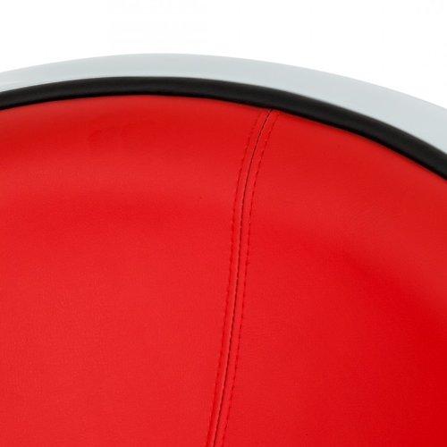 neu loungesessel kunststoff wei kunstleder rot. Black Bedroom Furniture Sets. Home Design Ideas