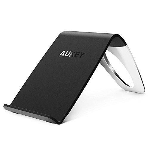 Aukey Qi準拠 ワイヤレス充電器 Galaxy S7 / S7 edge / S6 / S6 edge Nexus 4 / 5 / 6 / 7 (第2世代 2013)などQi対応機種 無接点充電 ワイヤレスチャージャー スマホ 充電パッド スタンド型 取り外し可能 LC-C1