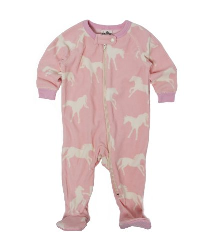 Hatley Footed Sleep Suit - Hunter Jumper, Pink, 3-6M