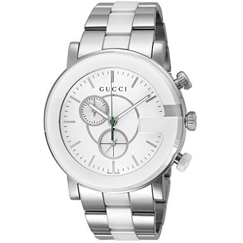 [グッチ]GUCCI 腕時計 Gクロノ ホワイト文字盤 クロノグラフ YA101345 メンズ 【並行輸入品】
