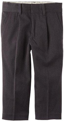 Izod Kids Little Boys' Dress Pant, Charcoal, 2T/2 front-1023900