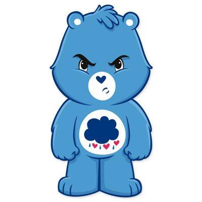 "Care Bears Grumpy Bear Vynil Car Sticker 3"" X 6"" front-648535"