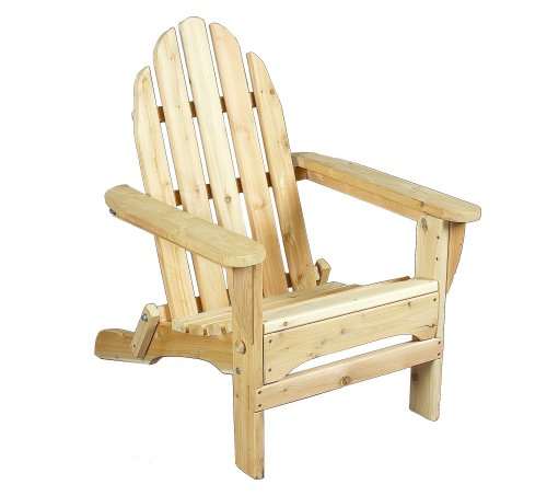 Cedarlooks 0400404 adirondack chair folding rustic touch for Fauteuil jardin palette