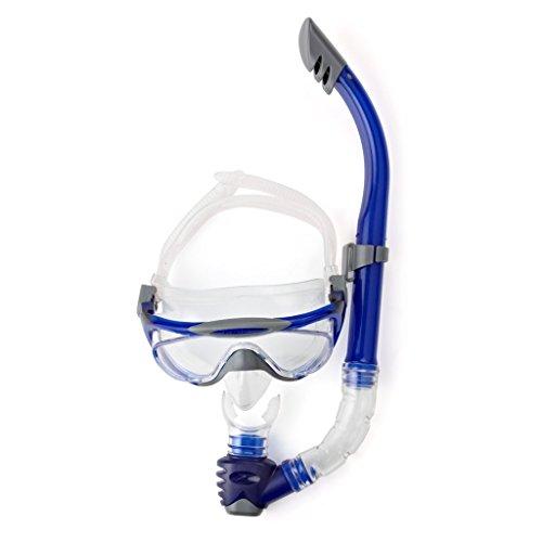 Speedo Erwachsene Accessoires Glide Maske und Schnorchel-Set, Grey/Blue, One Size, 8-016585052ONESIZE