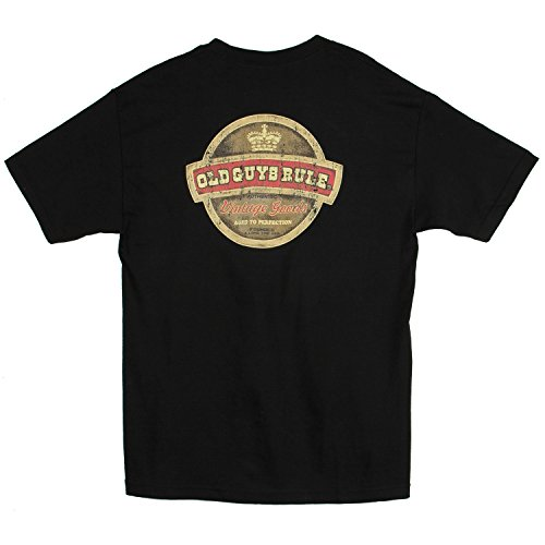 Old Guys Rule Men's Vintage Goods T-Shirt Black X-Large (Old Guys Rule T Shirts compare prices)