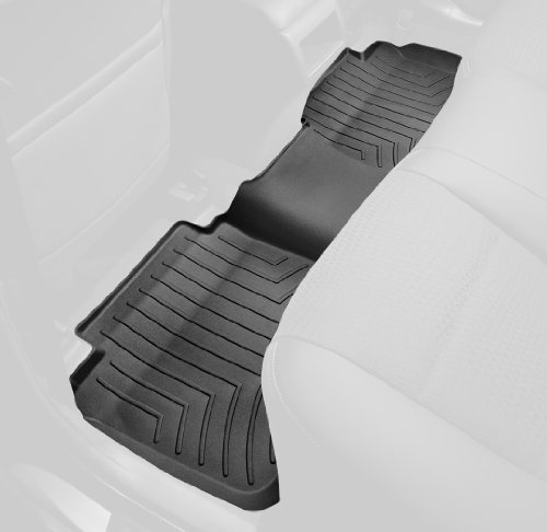 WeatherTech Custom Fit Rear FloorLiner for Toyota 4Runner (Black) (Weathertech 4runner Mats compare prices)