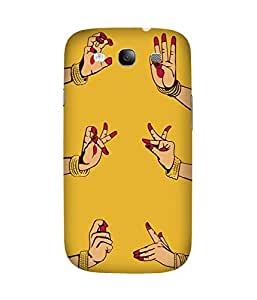 Indian Dance Hand-3 Samsung Galaxy S3 Printed Back Cover