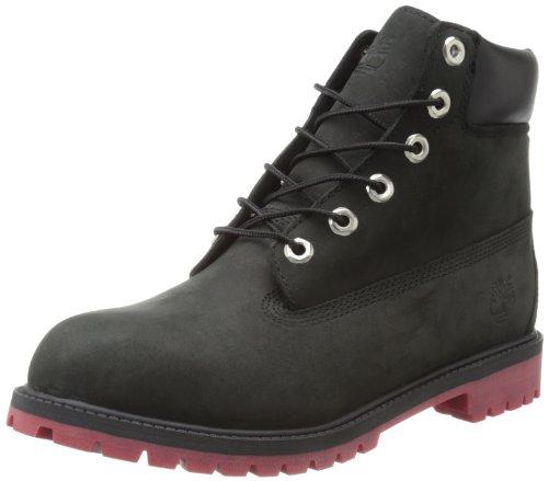 Timberland 6-Inch Premium Waterproof Boot (Big Kid),Black/Red,6.5 M Us Big Kid front-950624