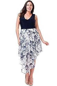 Nyteez Women's Plus Size Navy Boho Dress