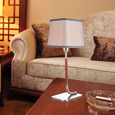 Modern Gray Textured Fabric Nicked Table Lamp , Coffee